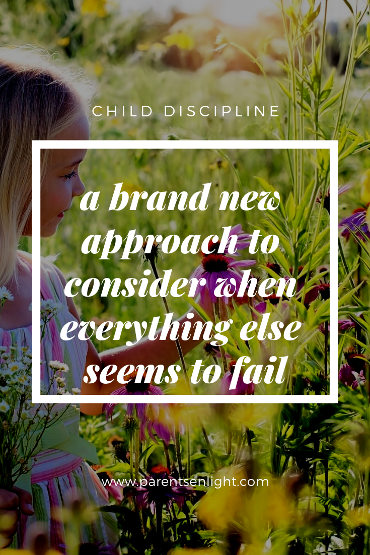 When at a loss about your children's discipline, try this approach. It just might be a game changer.