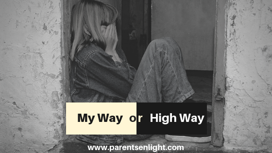 Protection and freedom: If your child needs to choose between your way to his way, something, somewhere - went wrong.