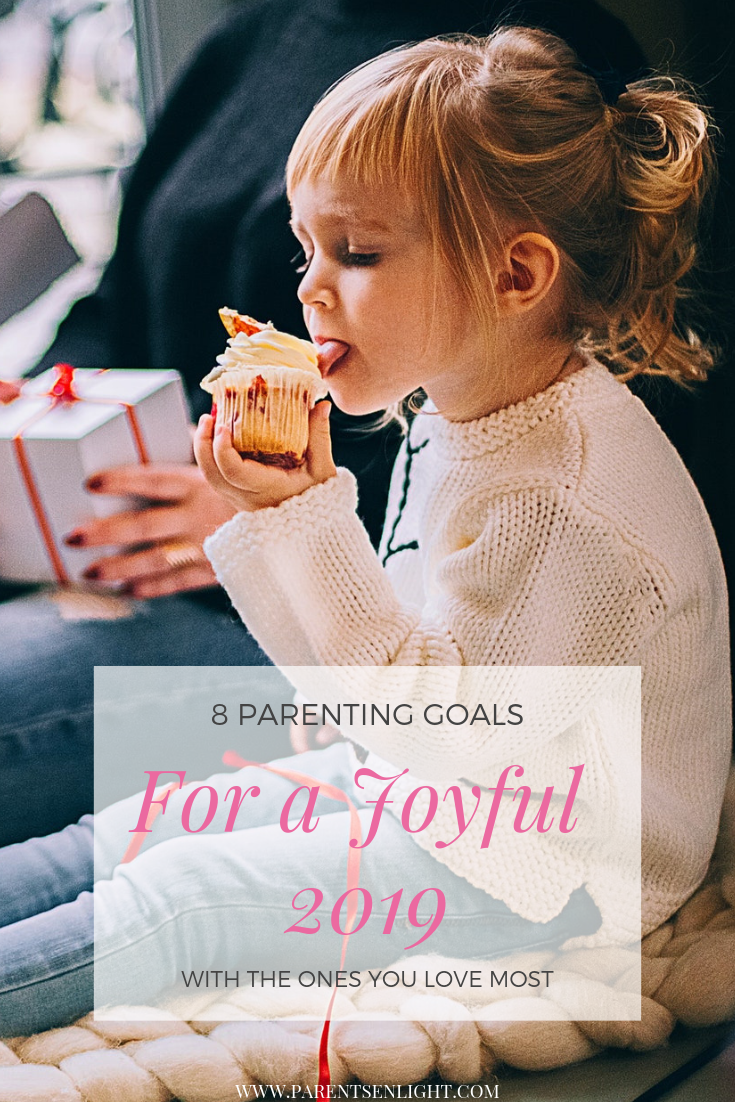 If you're aiming for a better 2019 - set these parenting goals. #Parentinggoals #attachment Parenting #Mindful Parenting #Peaceful Parenting #Positive Discipline