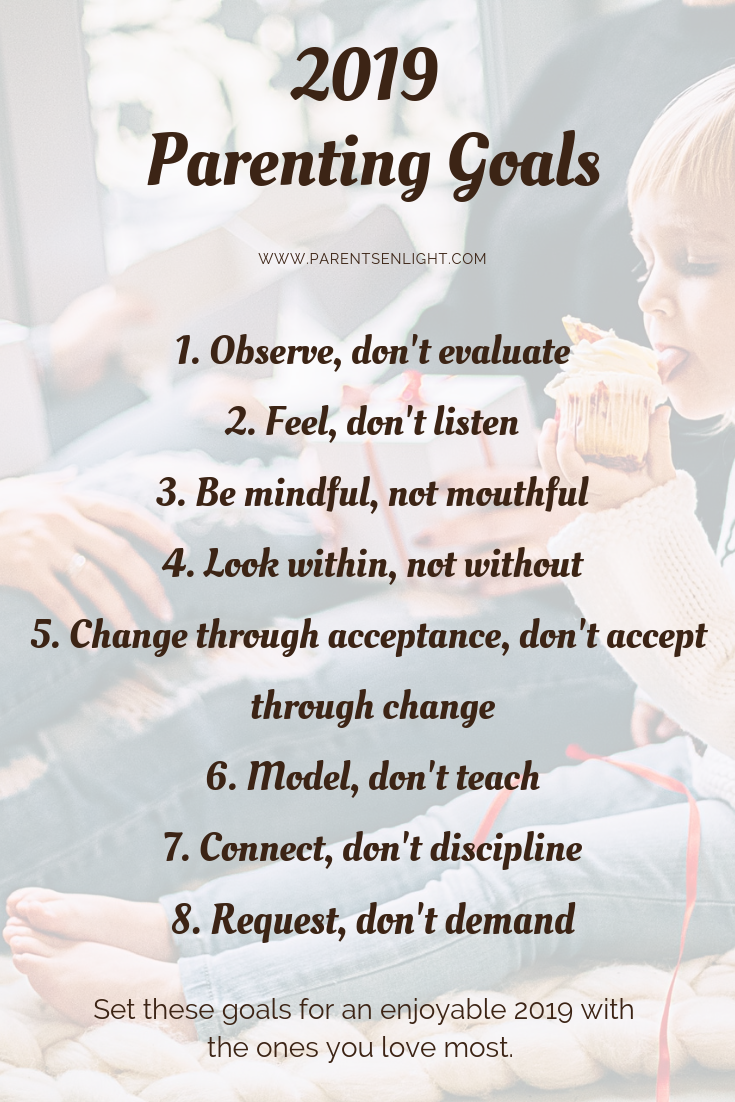 Set your parenting goals for 2019 - change your life. #Parentinggoals #attachment Parenting #Mindful Parenting #Peaceful Parenting #Positive Discipline
