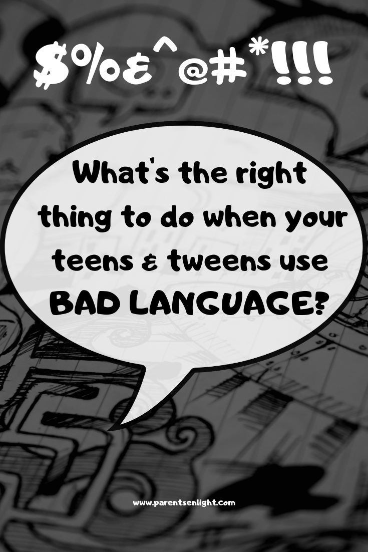 The use of curses, swear words and other sorts of bad language among children is a concern for most parents of teens and tweens. Here's how you can empower your child to positive language.