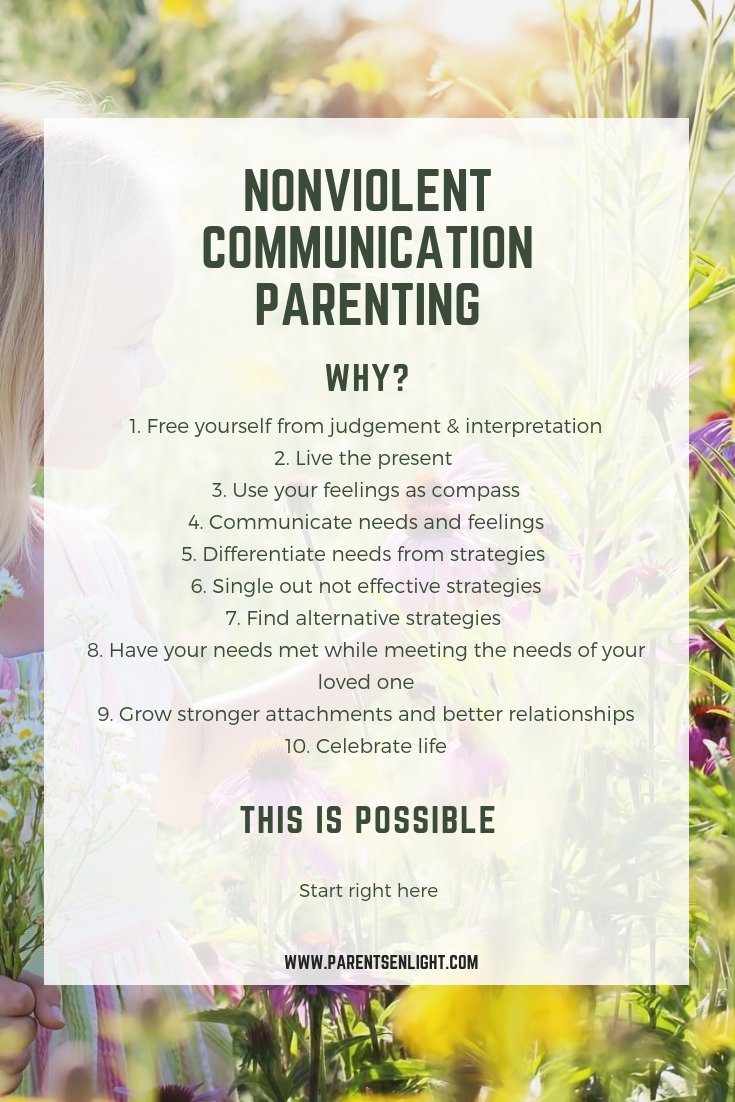 Nonviolent Communication Parenting - how, why, when, where and what! Everything on how it will change your life is right here