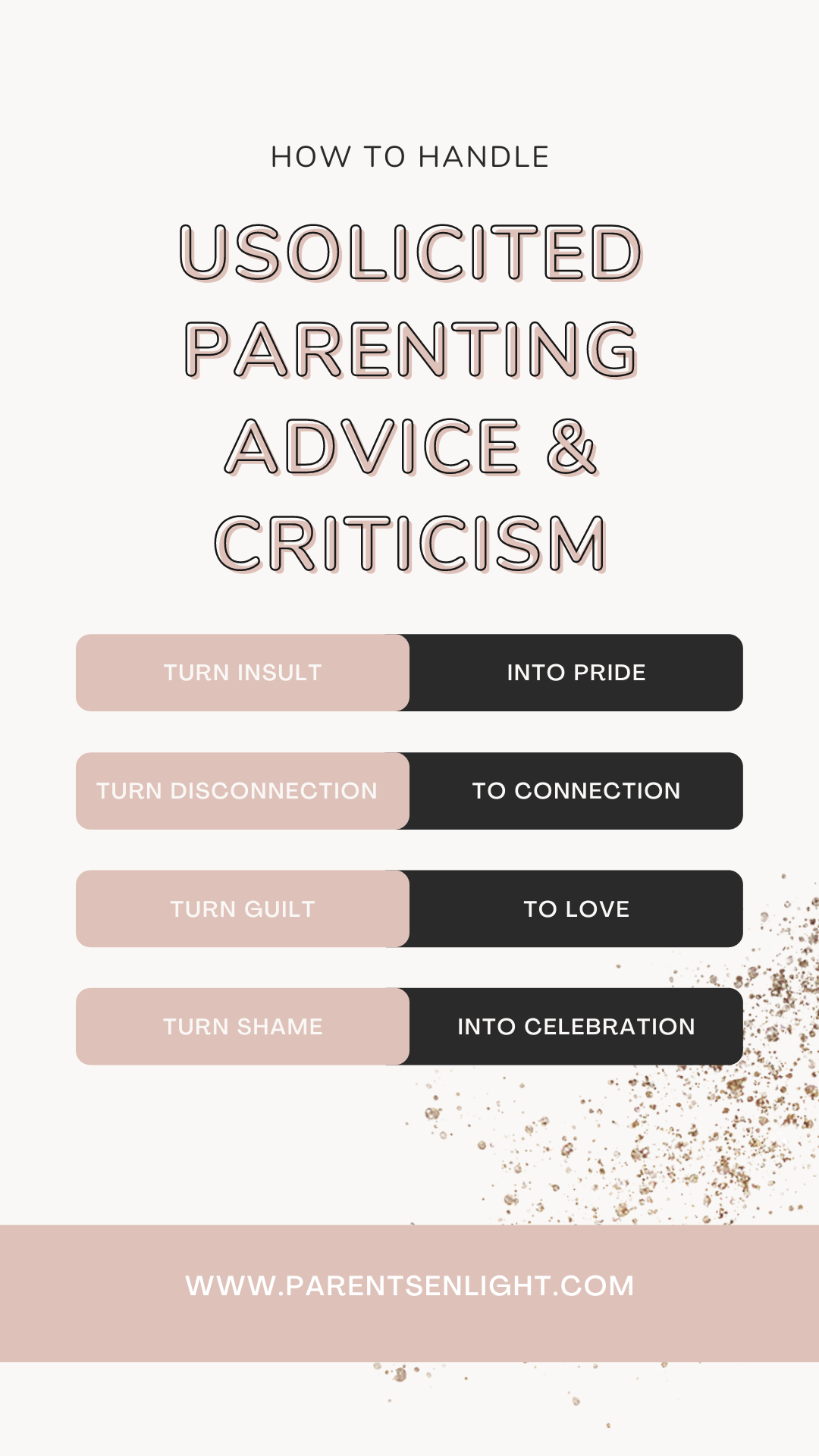 Parenting comes with judgment and criticism; if you're a mom - you already know this. No matter what you will do, someone will tell you that you're not doing it right and that they know how to do it better. Usually this is a source for disconnection, fights, insults, and pain... But here's the thing - we got it all wrong. Want to know how to turn all these into great opportunities for connection? Read on #parentingadvice #usolicitedparentingadvice #handlejudgment #mindfulness #mindfulparenting #parentingtips #parentinghelp