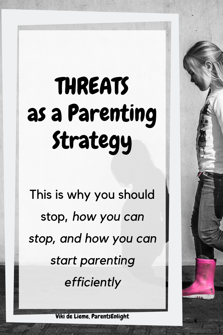 Threats work for the same reason they should not be used: threats trigger children's limbic system and survival instinct and lead to a variety of behavioral consequences that ypu're actually trying to stop. #parenting #mindfulness #mindfulparenting #positiveparenting #positivediscipline #childdiscipline