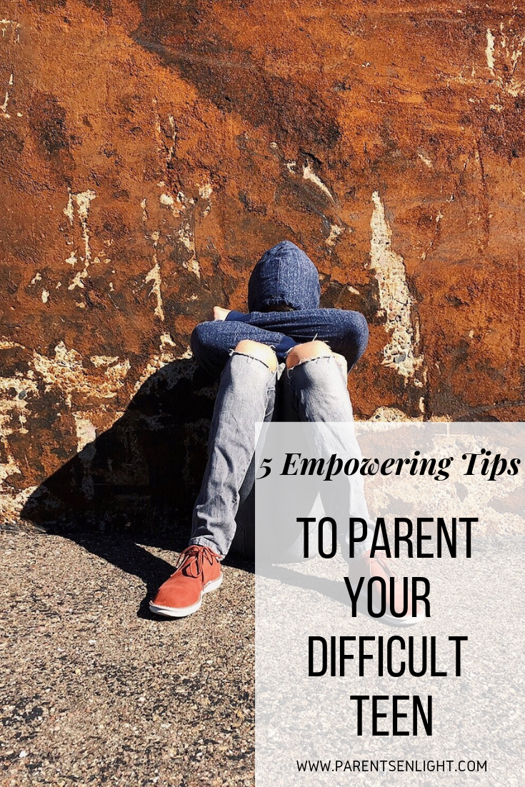 Five empowering tips to parent your difficult teen, learn how to communicate, cooperate and connect again.