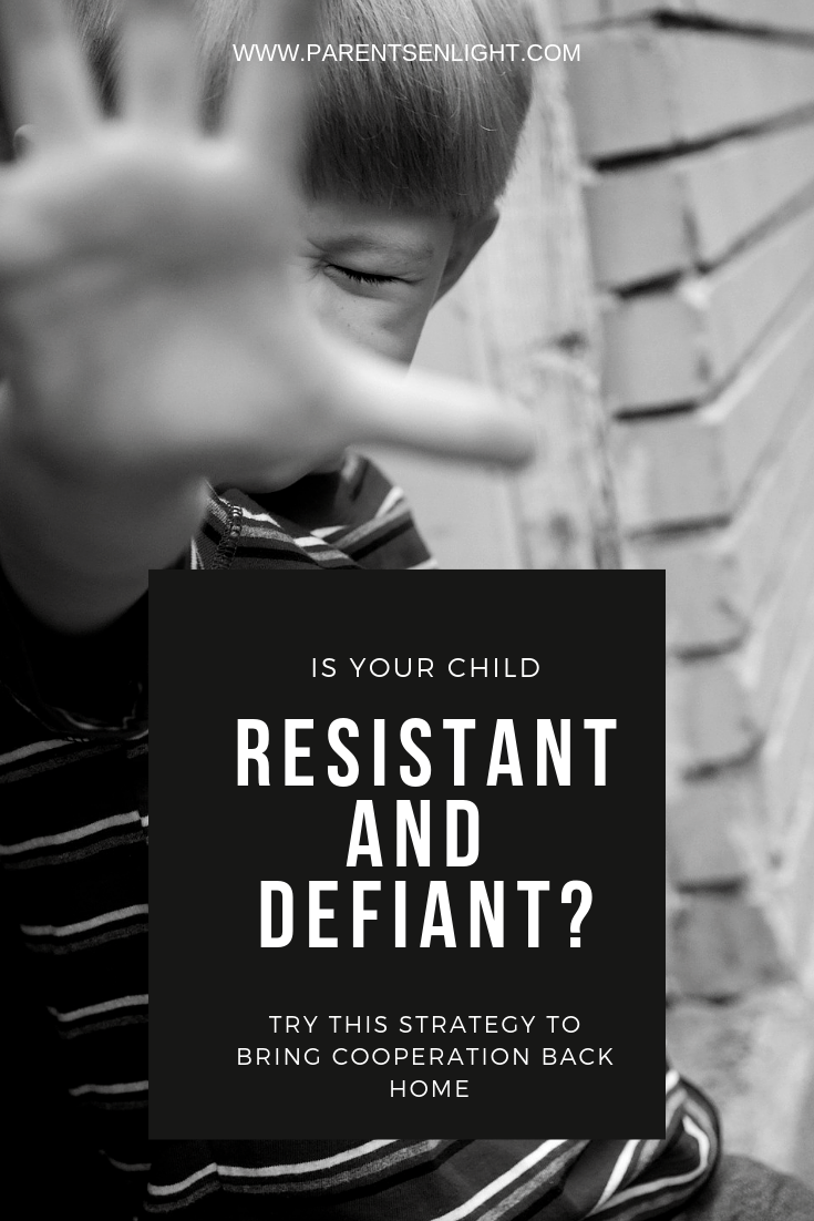 If your child is resistant, defiant and prone to power struggles, this might help you get things back on track.