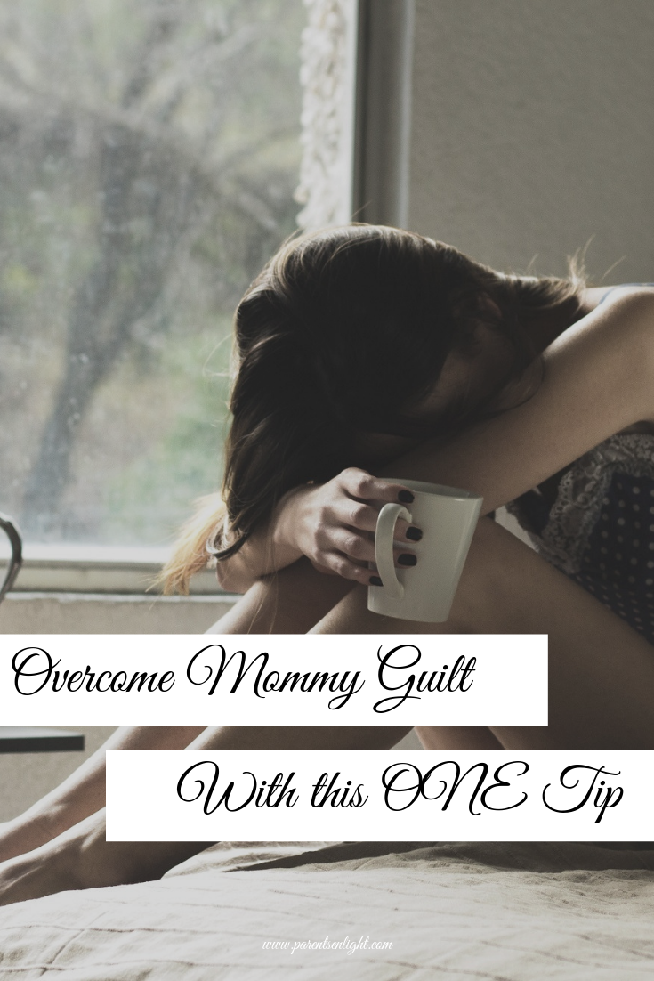 Overcome and free yourself from the mommy guilt with this one tip. #Mindfulness #Mindfulparenting #ParentingHelp #ParentingTips #AttachmentParenting #MommyGuilt