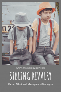 Sibling Rivalry Cause, Affect, and Management Strategies that actually work.  #children'sbehavior #parenting #attachmentparenting #nvc #parentinghelp #positiveparenting #positivediscipline #parentingtips #siblingrivalry