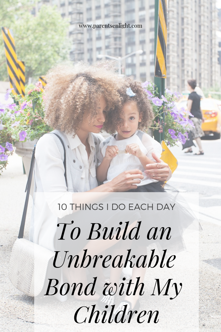 10 Things I do each day to build a strong relationship with my children #attachmentparenting #peacefulparenting