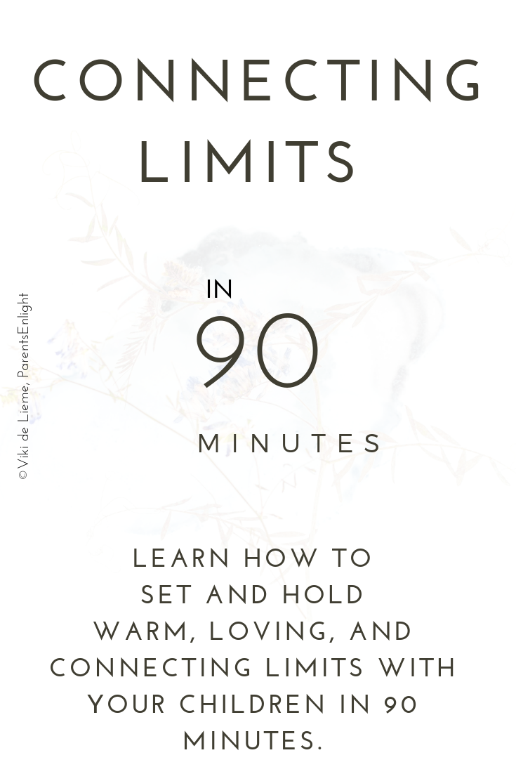 Connecting limits - learn how to set and hold connecting limits with your kids in 90 minutes. Change your parenting experience and reconnect to the ones you love most.