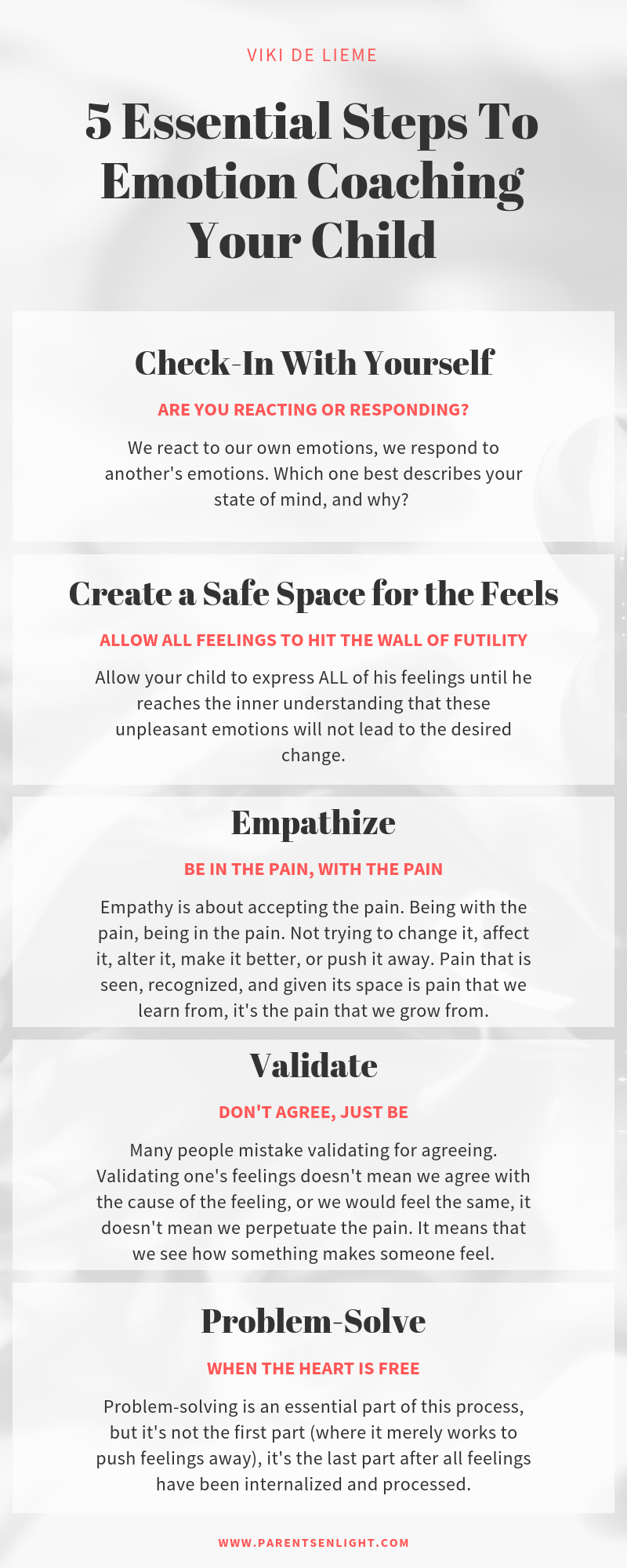 5 Essential Steps to Emotion Coaching Your Child #emotioncoaching #emotioncoachingchildren #mindfulness #mindfulparenting #parenting
