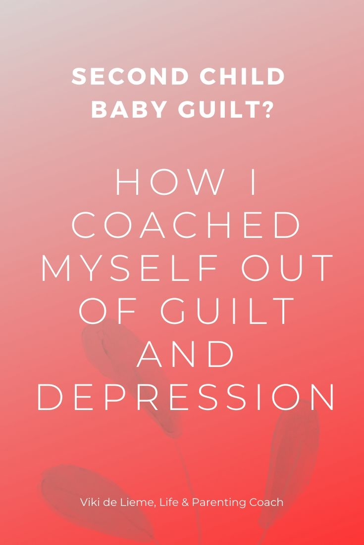 Not too many speak about the guilt involved in giving birth to the second child. Here's the full truth about it and how I coached myself out of #babyblues, #guilt. and #depression. #parenting #selfhelp #siblings #rausungsiblings #motherhood #parentinghelp #secondchildguilt