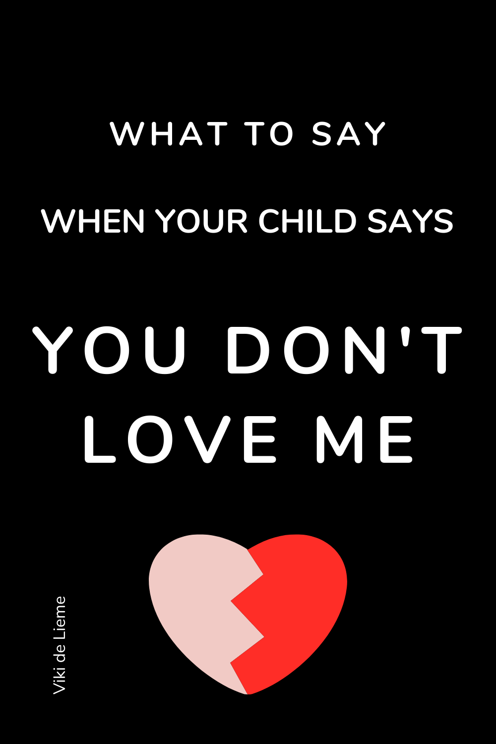 Hearing your child saying that he or she don't feel loved by you, is triggering for most parents. We take it personally and we try to explain that it can't possibly be true. What we seem to miss is that in that moment - it is true. For the child. Here's how to approach this #mindfulparenting #positiveparenting #youdon'tloveme #unconditionalparenting #parentinghelp #smartparenting #children'sbigfeelings